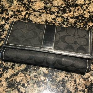 Coach Signature Wallet in black